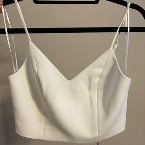 Ivory top with zipper back